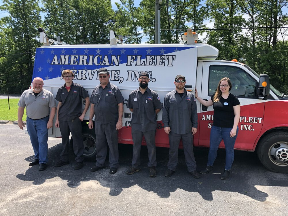 American Fleet Service Team with Maintenance Truck